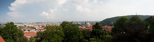 Panorama of Prague from the Old Royal Palace