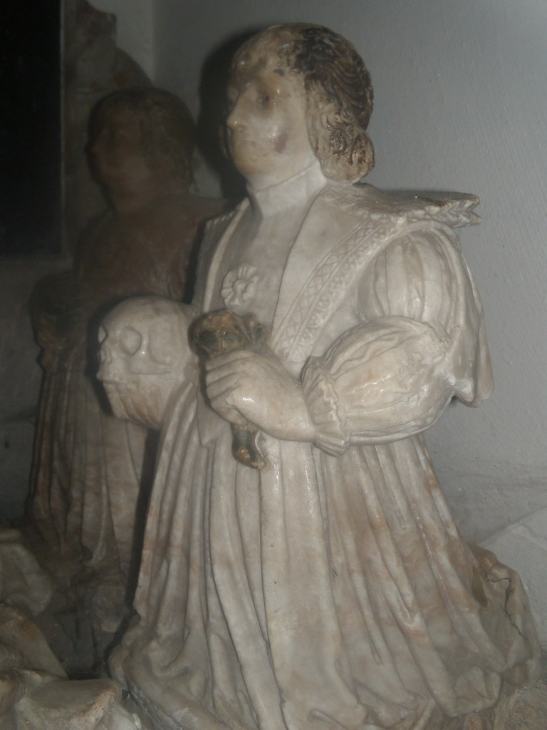 Detail, D'Orsey tomb A predeceased son. Hambleden Church. Marlow Circular