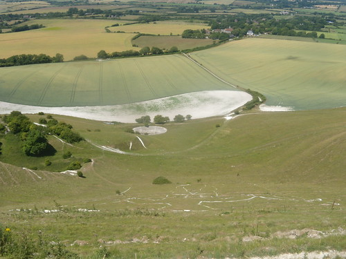 Looking down on Long Man