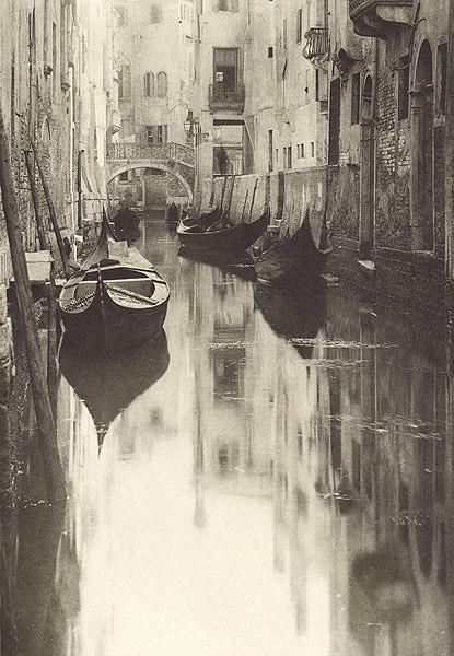 Venetian Canal, by Alfred Stieglitz 1897