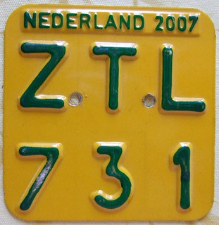 NETHERLANDS 2007 ---MOPED LICENSE PLATE