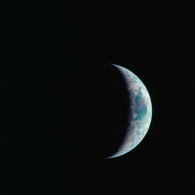 View of Earth July 21, 1969