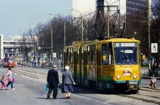 Tallinn tramway - Tatra KT4SU tram nr 112,. May 1996
