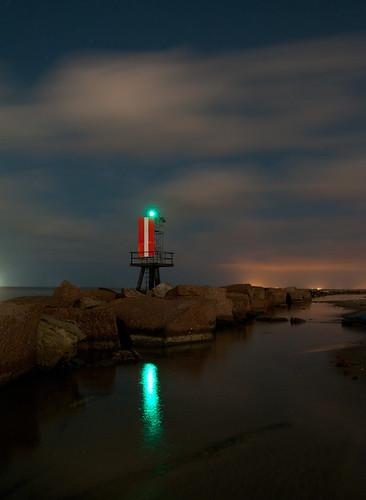 galveston night bay texas moonlight channel