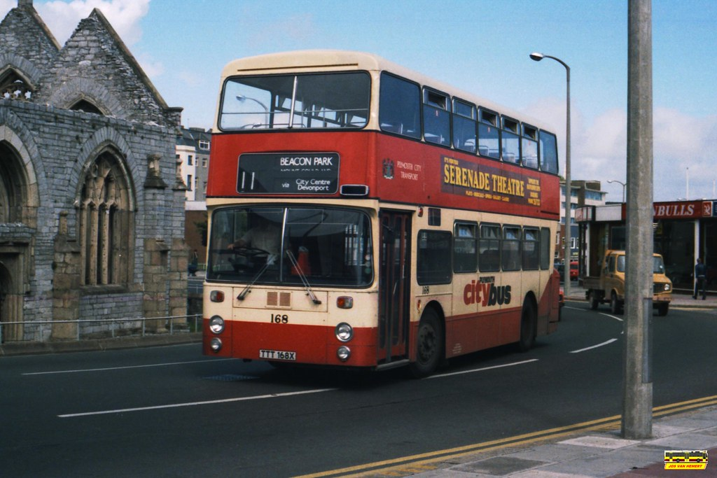 PCB Leyland Atlantean AN 168 - Ply., Charles Cross - 07-1984