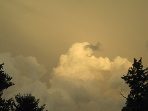 sunset orange cloud
