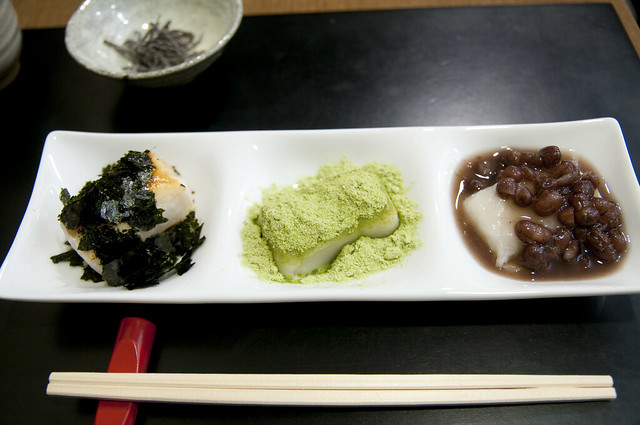 Photo:三種の餅セット, 丸屋茶寮, 新潟伊勢丹 By yuichi.sakuraba