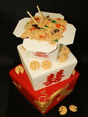 Chinese Take-Out Wedding Cake Detail