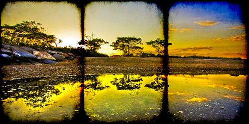 sunset sky seascape island cove shore 40d mywinners park1022efs
