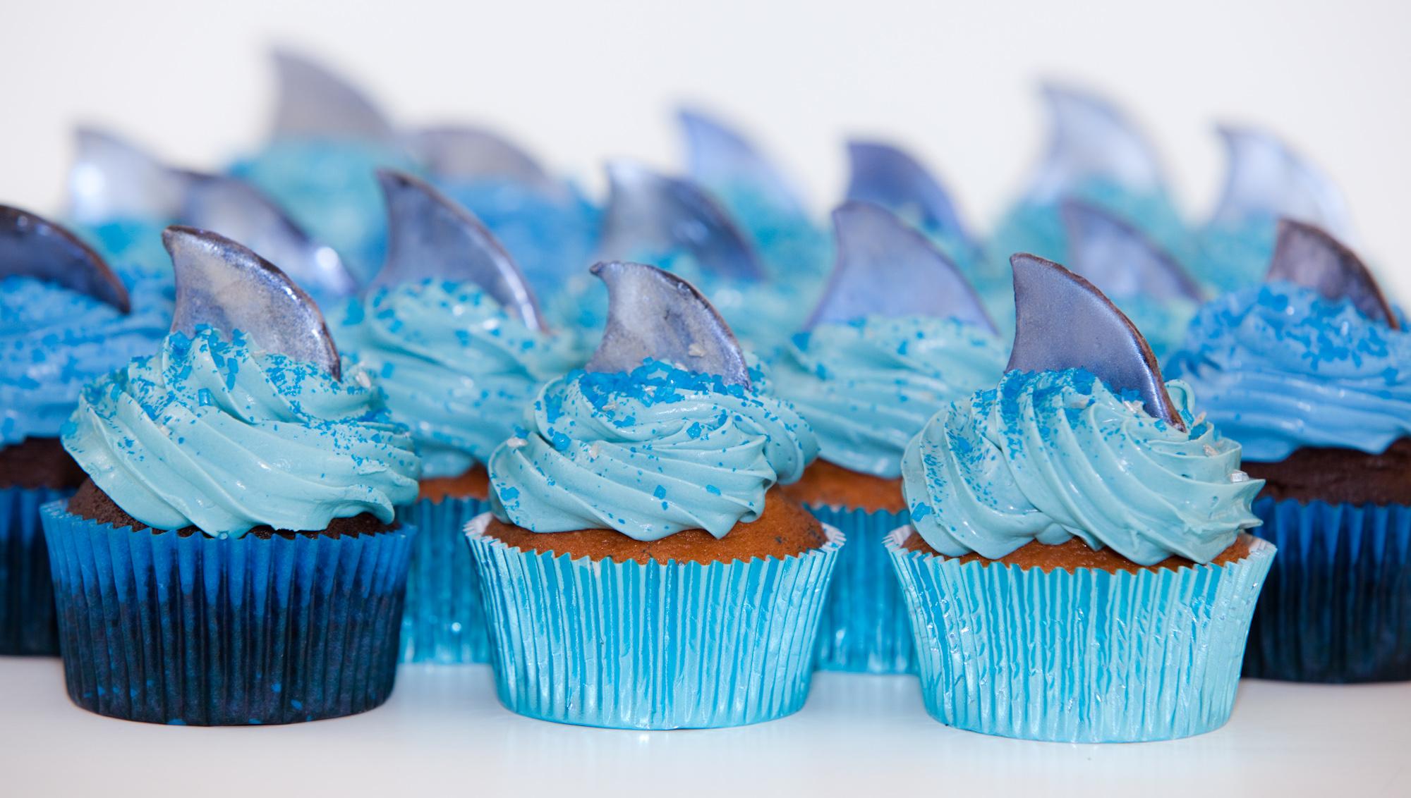 Shark Fin Cake Decorations