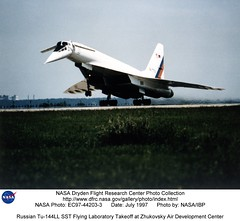 Russian Tu-144LL SST Flying Laboratory Takeoff at Zhukovsky Air Development Center