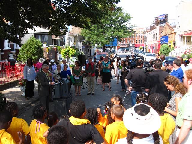 A great turn out for the announcement of the winners of the Greenest Block in Brooklyn contest.