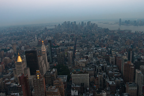 Vista del sur de Manhattan desde el Empire State Building