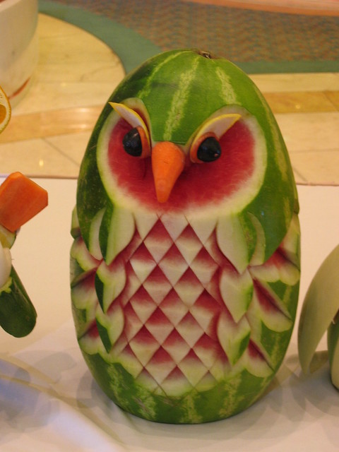Fruit carving owl flickr photo sharing