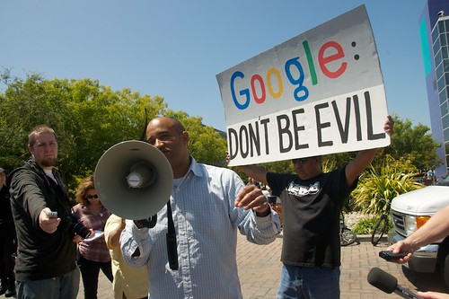 Net Neutrality protest at  Google HQ - GoogleRally 72