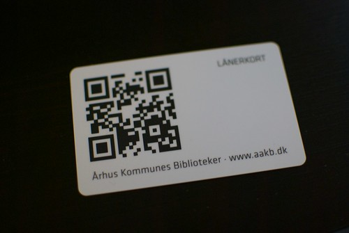 library loaner card with QR code