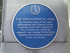 Photo of Philosophical Hall blue plaque
