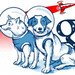 Google Russia Logo 2010 Belka and Strelka