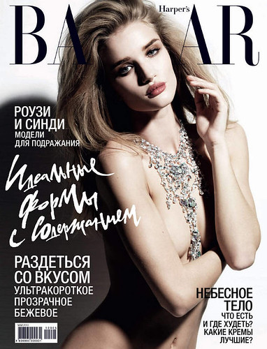 Rosie Huntington-Whiteley Harper's Bazaar Russia by Film-Book dot Com