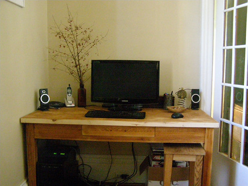 diy oak desk carpentry badphoto