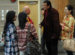 Chungdrag Dorje - Steven Seagal, wife Elle, chats with Buddhist monk Matthieu Ricard, Hong Kong friends, In Celebration of the Centennial of Dilgo Khyentse Rinpoche, Lotus Speech Canada, First Nations Longhouse, University of British Columbia