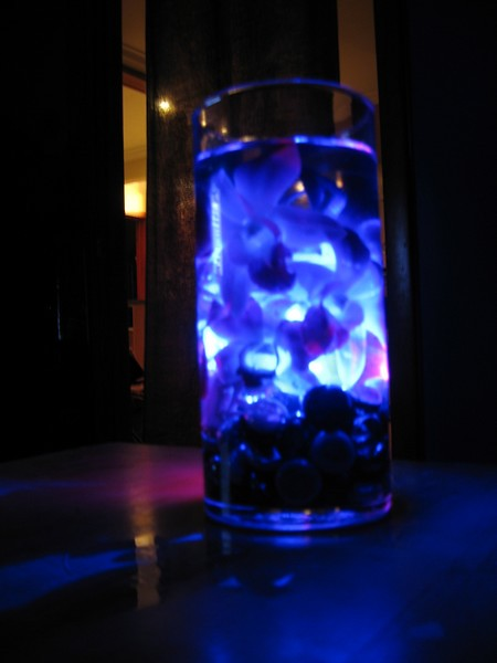 Centerpieces in blue light flickr photo sharing