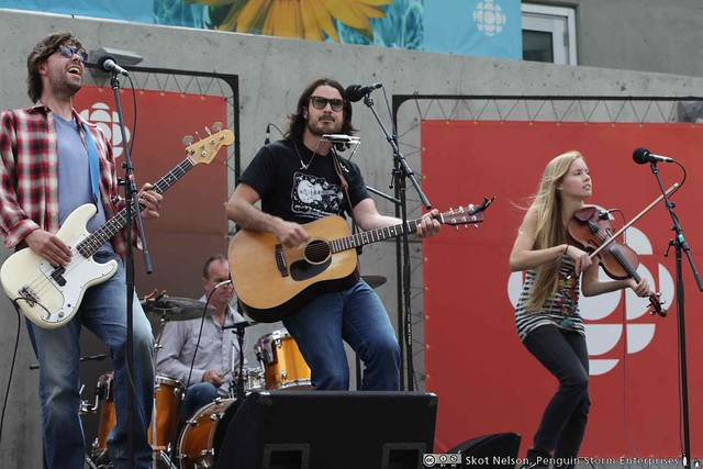 Dustin Bentall and the Outfit (including Kendel Carson) at the CBC Plaza