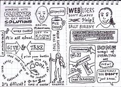 Sketchnoting at UX Australia: Daniel Naumann, Sally Bieleny
