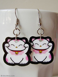 NEW! Lucky cat earrings