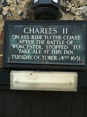 Photo of Charles II black plaque