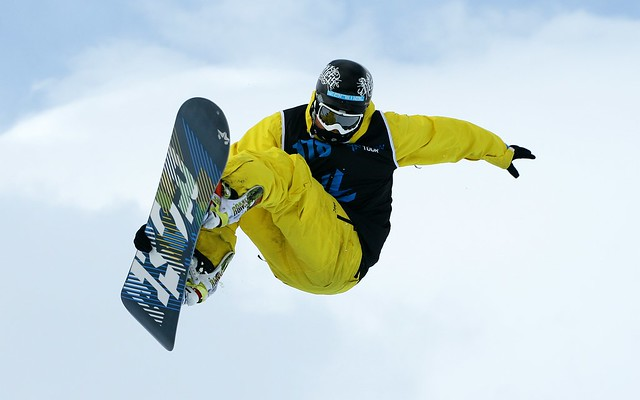 Sky high in the Halfpipe Final : The Brits 2010 at Laax, Switzerland