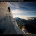 Warner downclimbing the summit mushroom, Chopicalqui