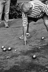 boules, lawn game, individual sports, white, sports, monochrome photography, ball game, monochrome, black-and-white, black, ball,