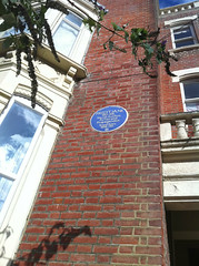 Photo of Fred T. Jane blue plaque