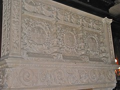 Grey Towers Castle (1893) – carved marble mantle