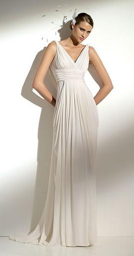 elegant greek style wedding dress