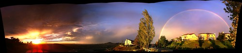 sunset sky autostitch panorama rain rainbow sandiego monsoon doublerainbow iphone