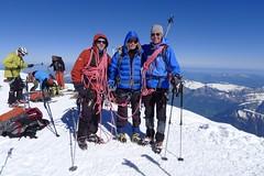 Auf dem Gipfel des Montblanc, 4810 m. Foto: Günther Härter.