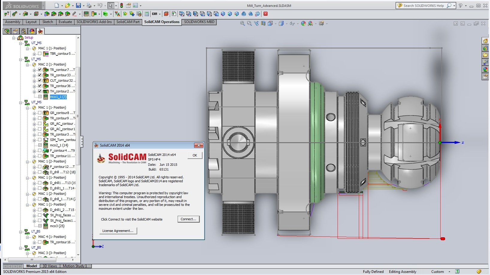 Creating toolpath with SolidCAM 2014 SP5 HF4 for SolidWorks 2012-2015