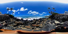 Shoreline Access #135 at Black Point in Honolulu, Hawaii - a 360° Equirectangular VR (Theta)