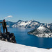 Crater Lake National Park in June by retro traveler