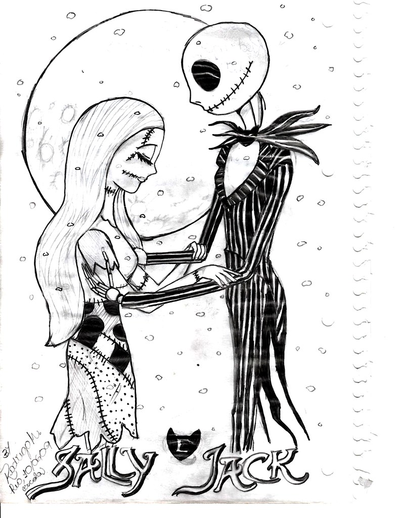Nightmare Before Christmas Coloring Pages | X-Mas