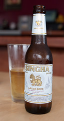 Singha with Glass