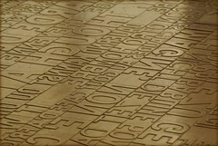 Seattle Library floor - 11 languages & alphabets