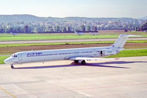 Adria Airways MD-81; S5-ABE@ZRH;07.10.1995
