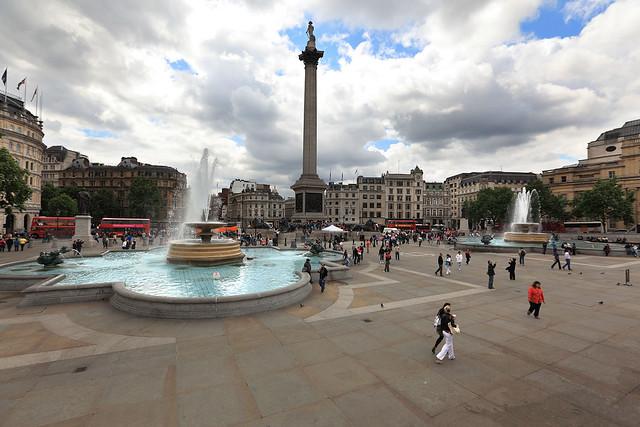 Trafalgar Square wide angle
