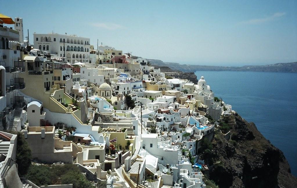 Breathtaking View of Fira, Santorini, Greek Island, Greece