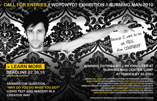 Call for Entires - Juried Exhibit - Burning Man 2010 (due 7/26)