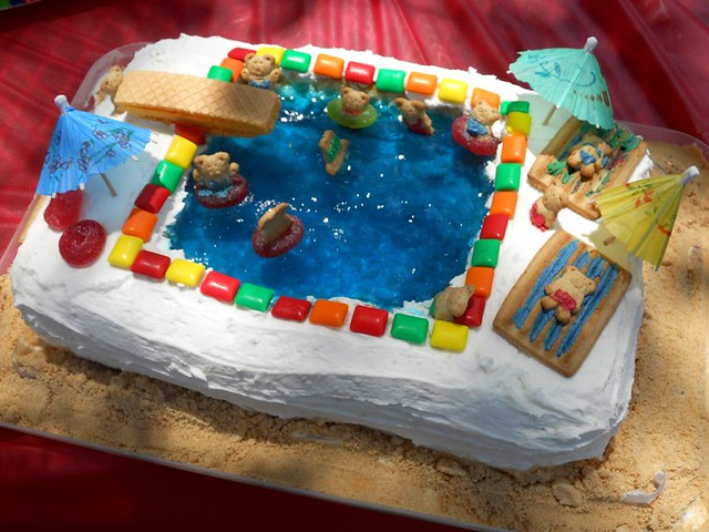 4785391708 51a69cfd4f for Swimming pool birthday cake pictures