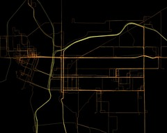 GPS Logs from Portland at night - 9pm to 6am